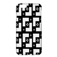 Abstract Pattern Background  Wallpaper In Black And White Shapes, Lines And Swirls Apple iPhone 6 Plus/6S Plus Hardshell Case