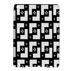 Abstract Pattern Background  Wallpaper In Black And White Shapes, Lines And Swirls iPad Air 2 Hardshell Cases