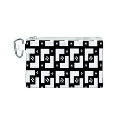 Abstract Pattern Background  Wallpaper In Black And White Shapes, Lines And Swirls Canvas Cosmetic Bag (s)