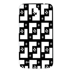 Abstract Pattern Background  Wallpaper In Black And White Shapes, Lines And Swirls Samsung Galaxy Mega I9200 Hardshell Back Case
