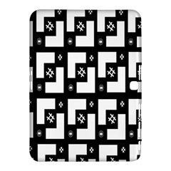 Abstract Pattern Background  Wallpaper In Black And White Shapes, Lines And Swirls Samsung Galaxy Tab 4 (10.1 ) Hardshell Case