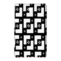 Abstract Pattern Background  Wallpaper In Black And White Shapes, Lines And Swirls Samsung Galaxy Tab S (8.4 ) Hardshell Case