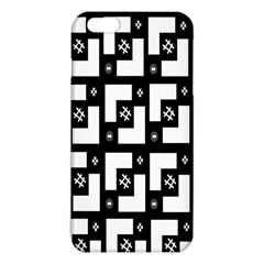 Abstract Pattern Background  Wallpaper In Black And White Shapes, Lines And Swirls iPhone 6 Plus/6S Plus TPU Case