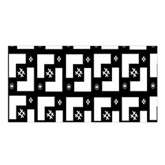 Abstract Pattern Background  Wallpaper In Black And White Shapes, Lines And Swirls Satin Shawl