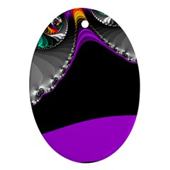 Fractal Background For Scrapbooking Or Other Ornament (oval)