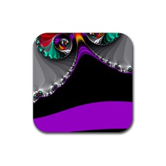 Fractal Background For Scrapbooking Or Other Rubber Coaster (square)