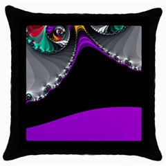 Fractal Background For Scrapbooking Or Other Throw Pillow Case (black)