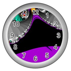 Fractal Background For Scrapbooking Or Other Wall Clocks (silver)