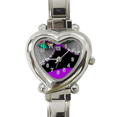 Fractal Background For Scrapbooking Or Other Heart Italian Charm Watch
