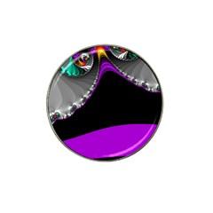 Fractal Background For Scrapbooking Or Other Hat Clip Ball Marker (4 Pack)