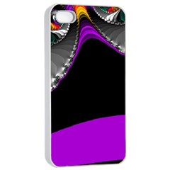 Fractal Background For Scrapbooking Or Other Apple iPhone 4/4s Seamless Case (White)