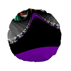 Fractal Background For Scrapbooking Or Other Standard 15  Premium Round Cushions