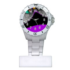 Fractal Background For Scrapbooking Or Other Plastic Nurses Watch