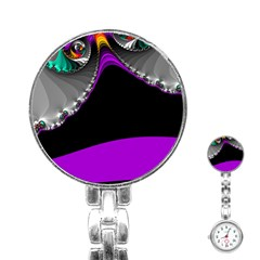 Fractal Background For Scrapbooking Or Other Stainless Steel Nurses Watch