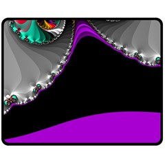 Fractal Background For Scrapbooking Or Other Double Sided Fleece Blanket (Medium)