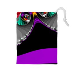 Fractal Background For Scrapbooking Or Other Drawstring Pouches (Large)