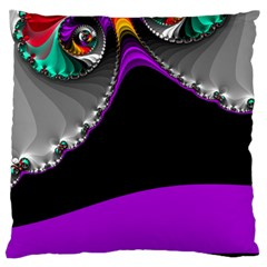 Fractal Background For Scrapbooking Or Other Large Flano Cushion Case (One Side)