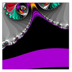 Fractal Background For Scrapbooking Or Other Large Satin Scarf (square)