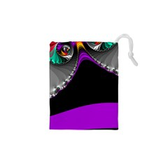 Fractal Background For Scrapbooking Or Other Drawstring Pouches (XS)