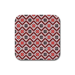 Folklore Rubber Square Coaster (4 pack)