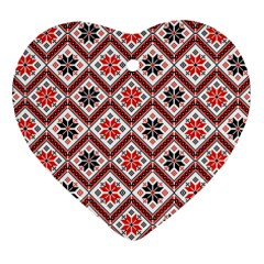 Folklore Heart Ornament (Two Sides)