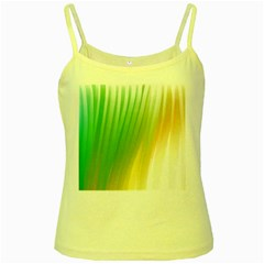 Folded Digitally Painted Abstract Paint Background Texture Yellow Spaghetti Tank