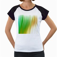Folded Digitally Painted Abstract Paint Background Texture Women s Cap Sleeve T