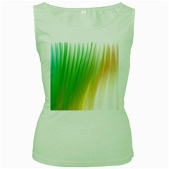 Folded Digitally Painted Abstract Paint Background Texture Women s Green Tank Top