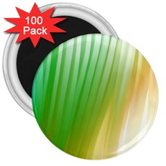 Folded Digitally Painted Abstract Paint Background Texture 3  Magnets (100 pack)