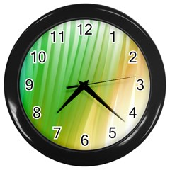 Folded Digitally Painted Abstract Paint Background Texture Wall Clocks (Black)