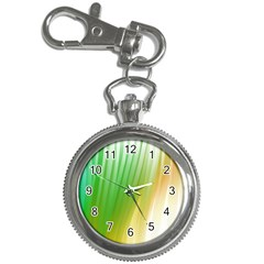 Folded Digitally Painted Abstract Paint Background Texture Key Chain Watches