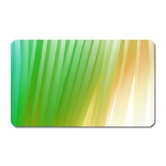 Folded Digitally Painted Abstract Paint Background Texture Magnet (rectangular)