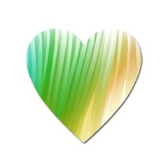 Folded Digitally Painted Abstract Paint Background Texture Heart Magnet