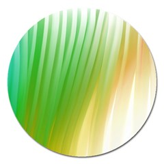Folded Digitally Painted Abstract Paint Background Texture Magnet 5  (round)