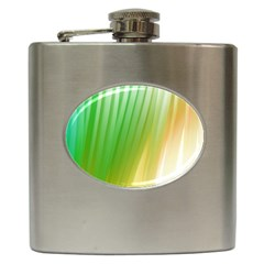 Folded Digitally Painted Abstract Paint Background Texture Hip Flask (6 Oz)