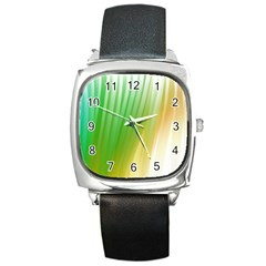 Folded Digitally Painted Abstract Paint Background Texture Square Metal Watch