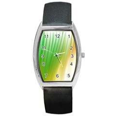 Folded Digitally Painted Abstract Paint Background Texture Barrel Style Metal Watch
