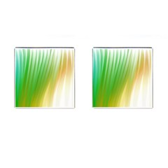 Folded Digitally Painted Abstract Paint Background Texture Cufflinks (square)