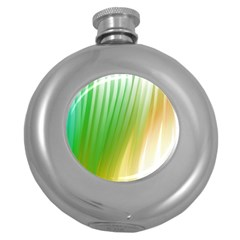 Folded Digitally Painted Abstract Paint Background Texture Round Hip Flask (5 Oz)