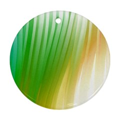 Folded Digitally Painted Abstract Paint Background Texture Round Ornament (two Sides)