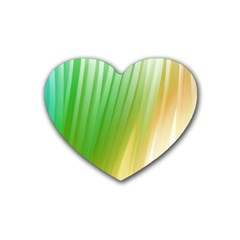 Folded Digitally Painted Abstract Paint Background Texture Heart Coaster (4 Pack)