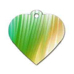 Folded Digitally Painted Abstract Paint Background Texture Dog Tag Heart (one Side)