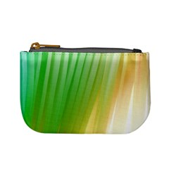Folded Digitally Painted Abstract Paint Background Texture Mini Coin Purses