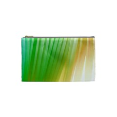 Folded Digitally Painted Abstract Paint Background Texture Cosmetic Bag (small)