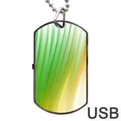 Folded Digitally Painted Abstract Paint Background Texture Dog Tag USB Flash (One Side)