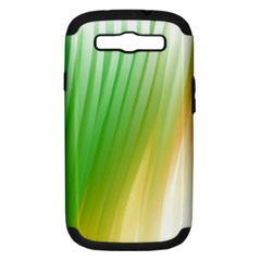 Folded Digitally Painted Abstract Paint Background Texture Samsung Galaxy S III Hardshell Case (PC+Silicone)