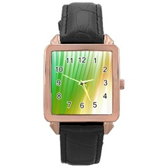 Folded Digitally Painted Abstract Paint Background Texture Rose Gold Leather Watch