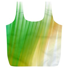 Folded Digitally Painted Abstract Paint Background Texture Full Print Recycle Bags (L)