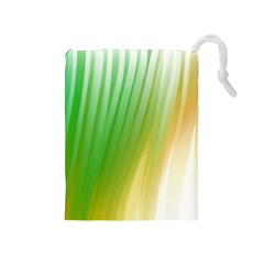 Folded Digitally Painted Abstract Paint Background Texture Drawstring Pouches (Medium)