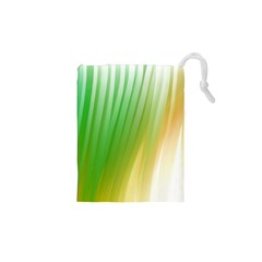 Folded Digitally Painted Abstract Paint Background Texture Drawstring Pouches (XS)